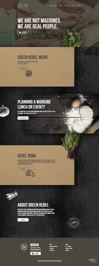 green label - fine dining - restaurant marketing